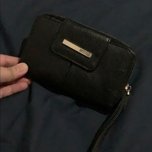 Kenneth Cole Reaction Black Wristlet Wallet